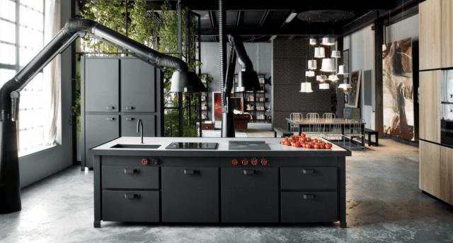cocinas-negras-mate-industrial
