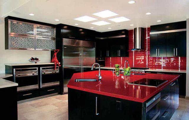 M s de 25 fotos con ideas de cocinas negras for Cocina negra ikea
