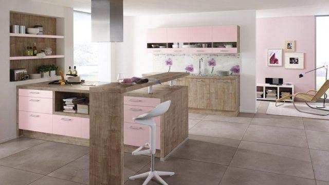 cocinas-rosas-moderna