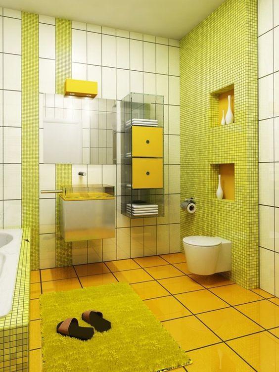 Colores para cuartos de baño pequeños 2018 - espaciohogar.com
