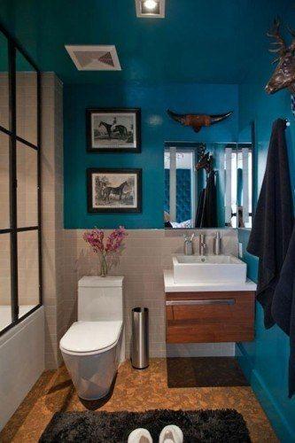 Colores para cuartos de ba o peque os 2018 - Banos turquesa y marron ...