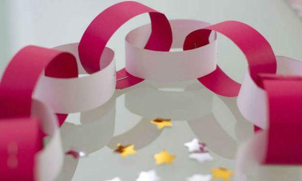 como hacer guirnaldas de papel eslabon 600x359 - Hacer Guirnaldas