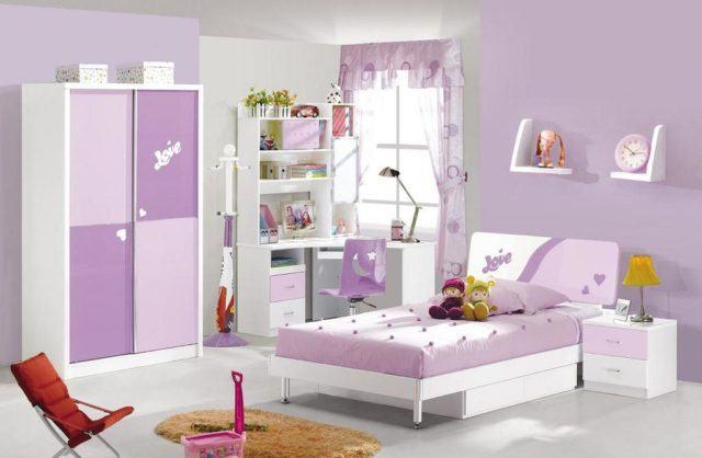 colores para los dormitorios infantiles lila