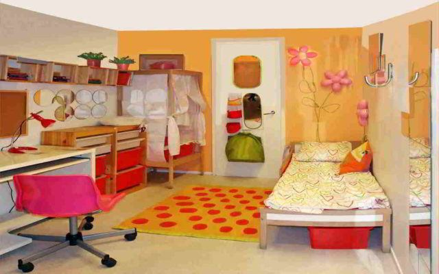 M s de 20 ideas de dormitorios infantiles 2018 for Decoracion para pared naranja