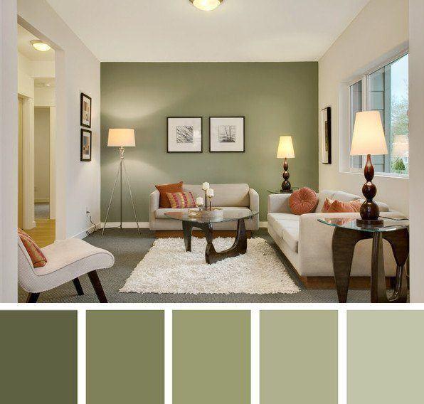 Los colores de moda para la casa en 2018 - Gama de colores verdes ...