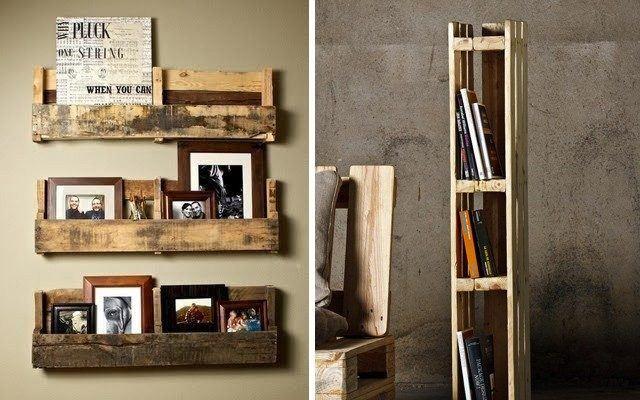 unas estanteras caseras con algunos listones de madera o incluso con unos palets viejos tambin pueden servirnos para esta tarea que dan un aspecto - Estanterias Caseras