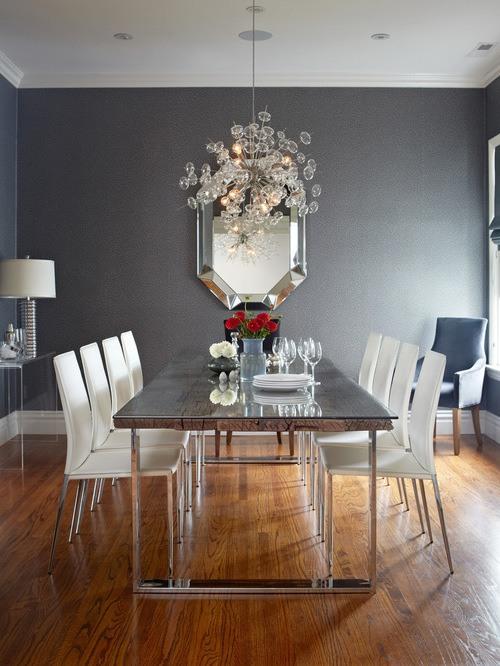 M s de 45 fotos de comedores grises - Combinar color gris en paredes ...