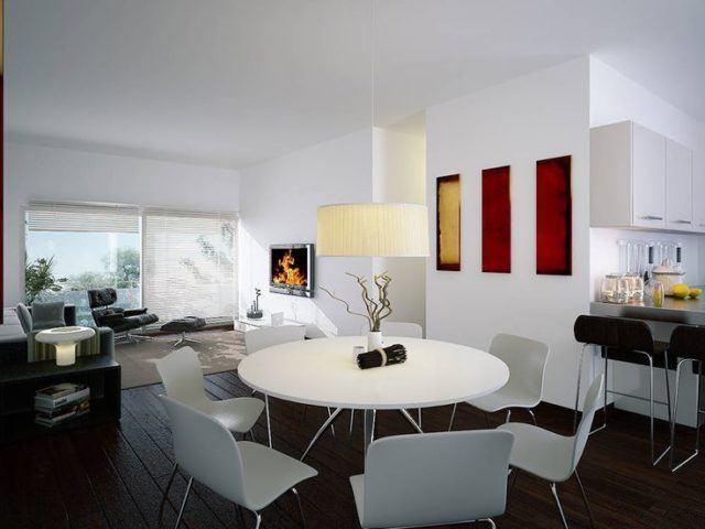 Fotos de comedores peque os y minimalistas para vuestra casa - Mesas de centro para espacios pequenos ...