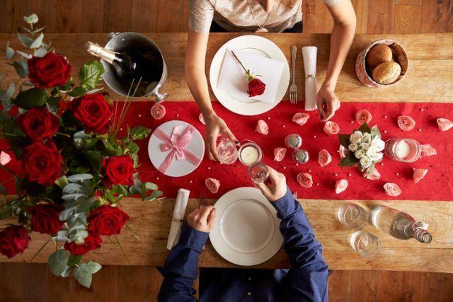 Decoracion de mesa para san valentin