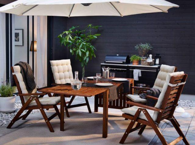 los actuales modelos de muchas mesas de terraza tienen un orificio central para poner una sombrilla es ideal ya que en el mismo espacio de la mesa tendrs - Decoracion De Terrazas