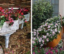 30 Ideas para decorar el jardín con cosas recicladas