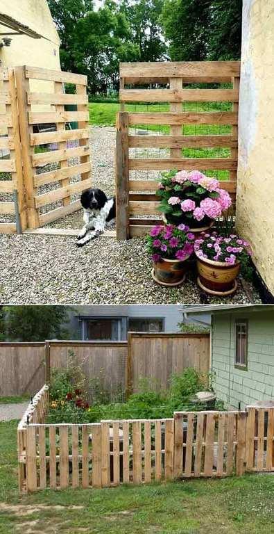 Ms de 50 fotos de jardines decorados con palets