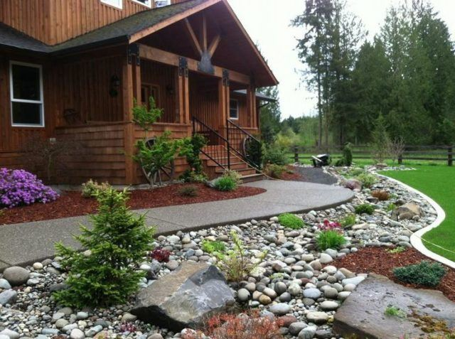 De 20 fotos de jardines con piedras que os van a encantar for Jardines en piedra natural