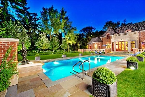 de 20 fotos de jardines con piscina lujosos