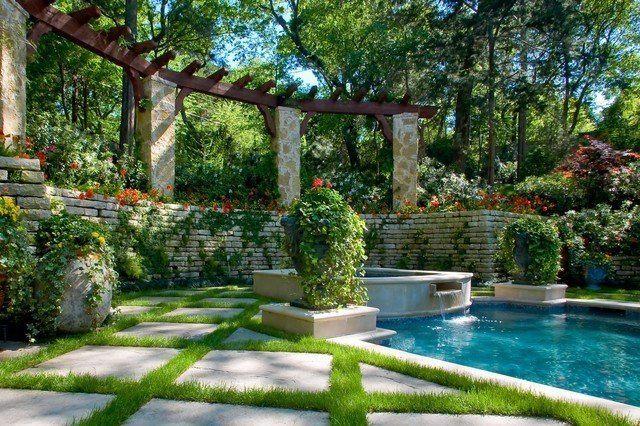 De 20 fotos de jardines con piscina lujosos - Jardines con piscinas ...