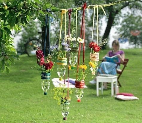 30 ideas para decorar el jard n con cosas recicladas - Cosas para el jardin ...