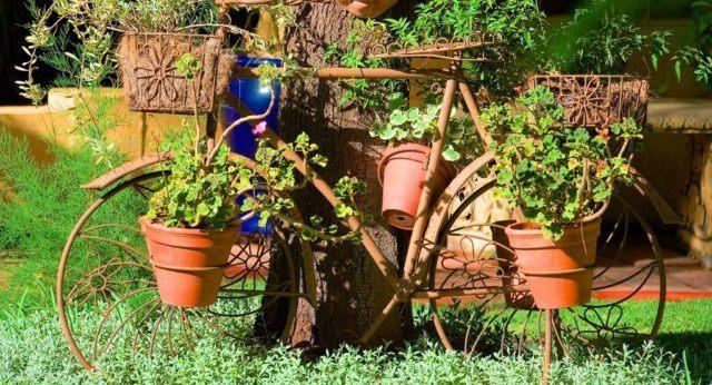 De 30 fotos de jardines sencillos con encanto for Jardines rusticos sencillos