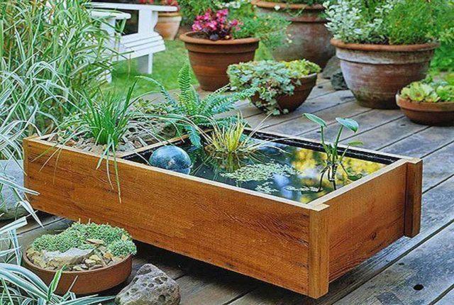 decorar el jardn de manera sencilla con agua