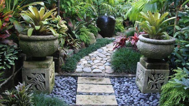 De 20 ideas de jardines tropicales para una casa for Domestic garden ideas