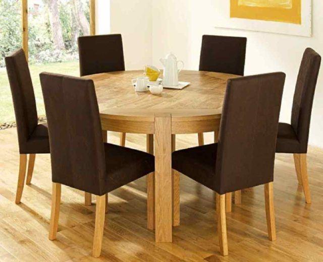 M s de 40 fotos de comedores con mesas redondas for Mesas redondas de madera