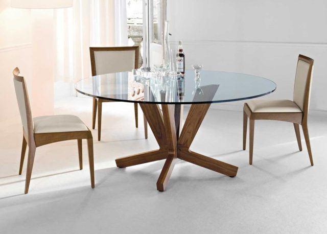 M s de 40 fotos de comedores con mesas redondas - Mesas redondas cristal ...