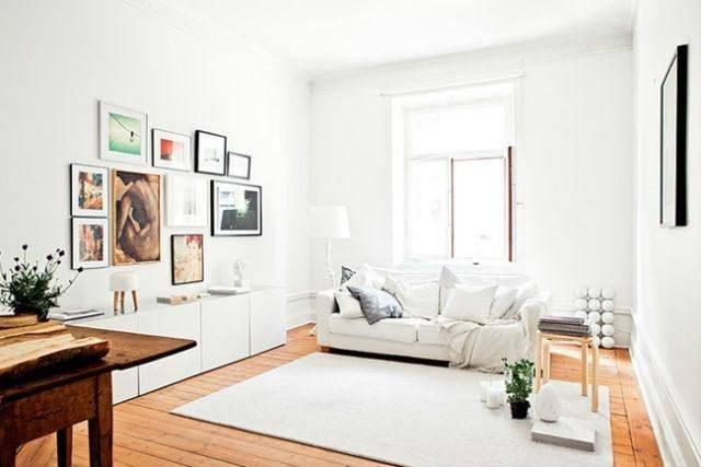 M s de 40 fotos de salones blancos - Salones en madera ...