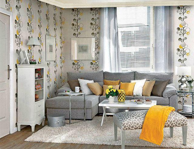Ideas para decorar salones con encanto colores y estilos - Salones decorados con papel ...