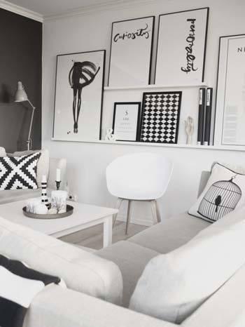 M s de 45 ideas con salones de estilo n rdico - Salones estilo escandinavo ...