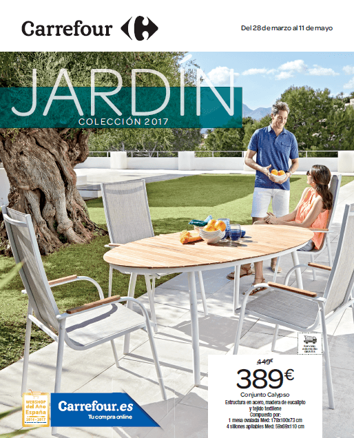 Cat logo carrefour muebles de jard n mayo 2017 for Sillones jardin carrefour