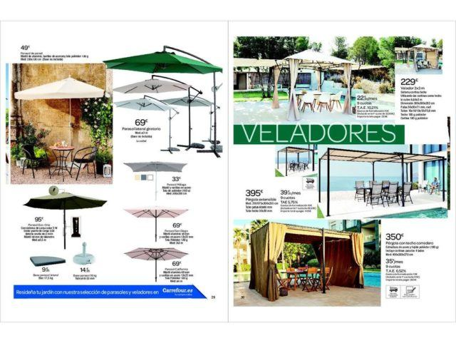 Mesas exterior carrefour trendy muebles carrefour with for Alcampo muebles jardin