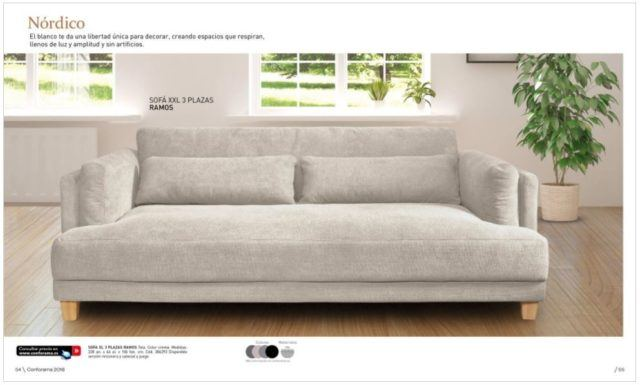 Sofas dos plazas conforama latest latest sofa plazas for Cuanto sale un sofa cama
