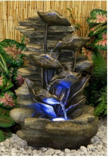 M s de 100 fotos de modelos de fuentes de jard n que os for Cascadas modernas para jardin