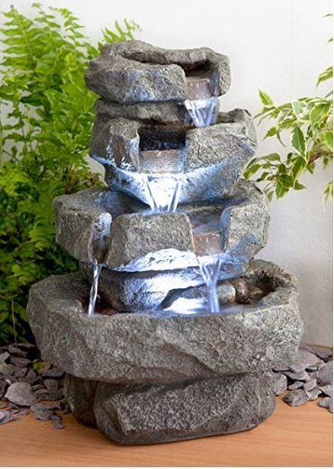 M s de 100 fotos de modelos de fuentes de jard n que os - Piedras para jardin baratas ...