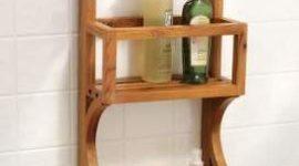 Rústico organizador para la ducha