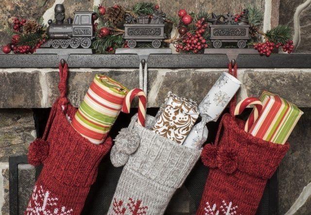 Calcetines de navidad hechas a mano