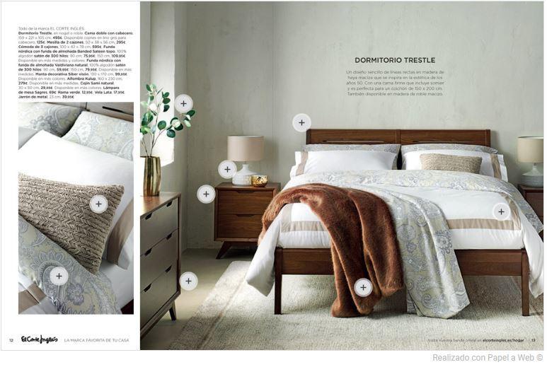 Catálogo de dormitorios de El Corte Inglés 2018 - EspacioHogar.com