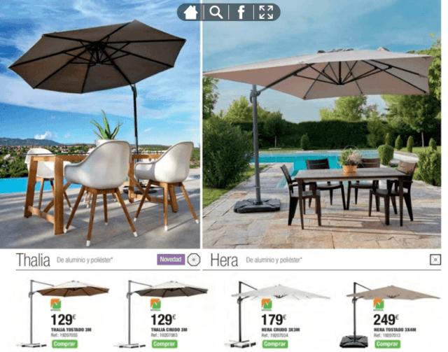 Leroy merlin muebles y complementos de exterior 2018 - Parasoles leroy merlin ...
