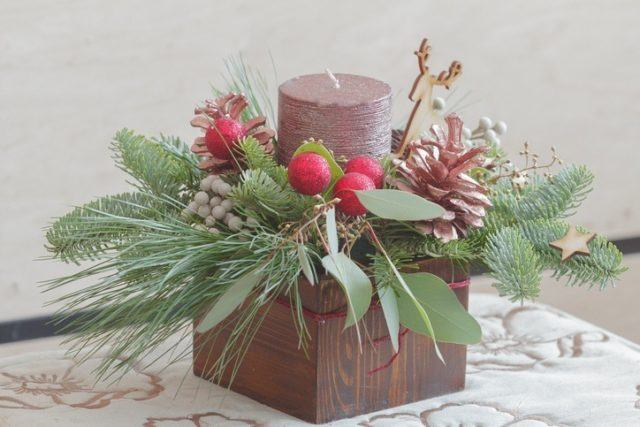 Centros de mesa navidenos pequenos y simples