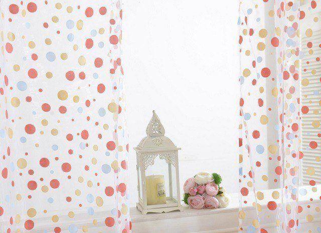 cortinas de saln de lunares