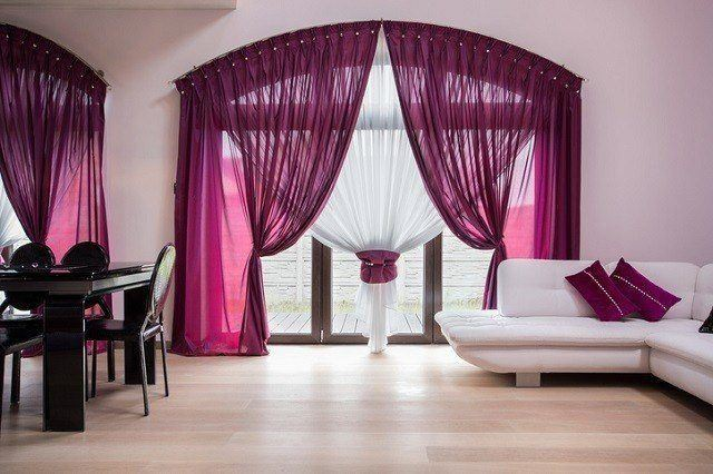 20 ideas de decoraci n de cortinas para salones 2019 - Cortinas dobles para salon ...