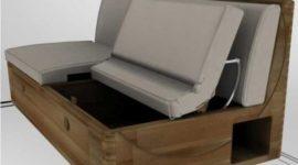 Sofá con cajón para almacenar objetos