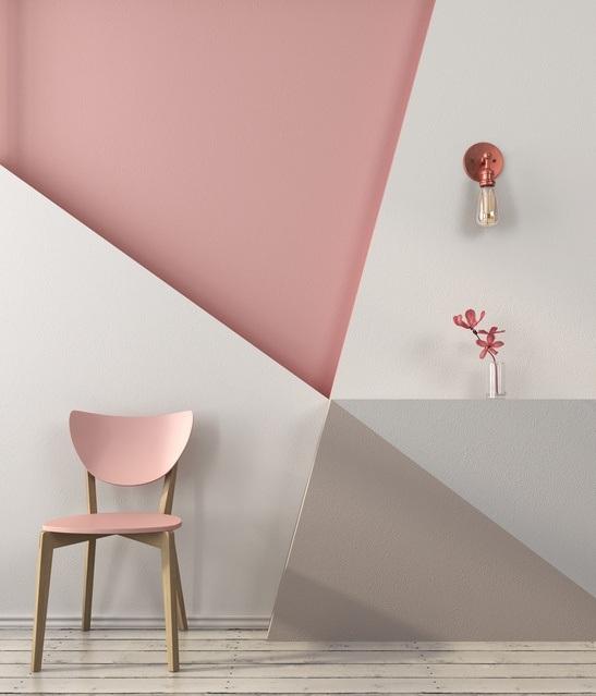 Revestimiento de paredes pintura geometrico