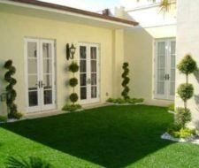 De 100 fotos de decoraci n de terrazas y balcones - Cesped artificial bricomart ...