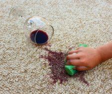 Productos para quitar manchas de vino