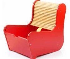 Kid's Roll Top Chair, sillón que sirve para guardar objetos