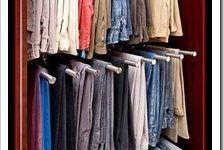 Percheros de acero inoxidable para pantalones