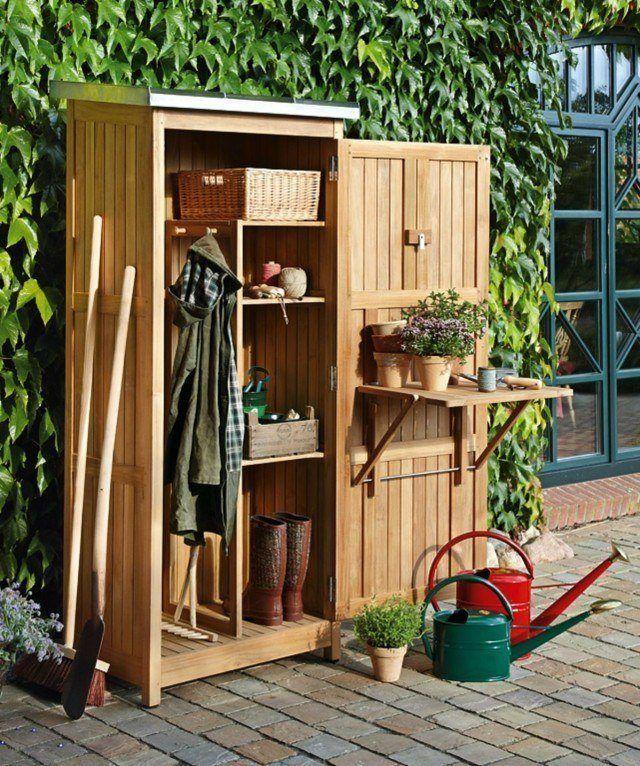 Armario exterior de terraza de 30 fotos con los modelos for Armario herramientas jardin