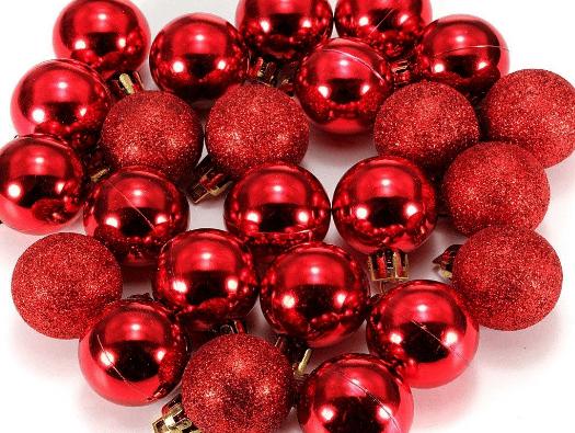 Bolas De Navidad Rojas Sobre Fondo Verde: Bolas Navideas Grandes. Bolas Navideas Grandes. Certamen