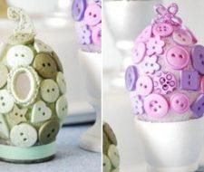 Huevos de pascua con botones