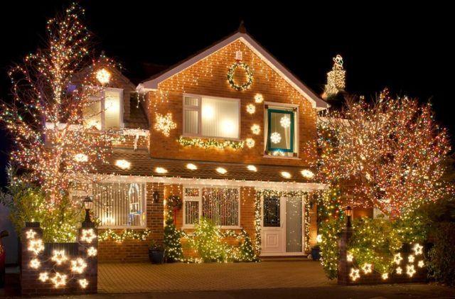 Decoracion jardin navidad